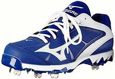 MIZUNO $139 Blue White LaceUp RUNNING TRACK ATHLETIC SHOES 9-Spike CLEATS 12 NWT