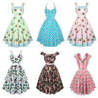Hell Bunny Womens New 1940s 1950s Retro Vintage Rockabilly Party Prom Dress UK