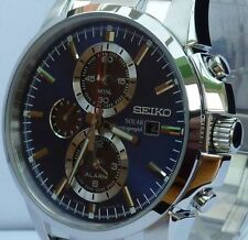 SEIKO BRAND NEW MENS SOLAR CHRONOGRAPH/ALARM WATCH. SSC085/SSC085P1