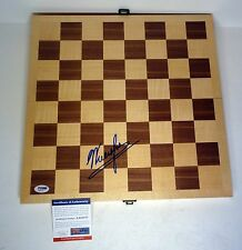GARRY KASPAROV SIGNED AUTOGRAPH WOODEN CHESS BOARD SET PSA/DNA COA