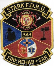 "Stark F.D.   Fire Rehab / S.A.R., OH  (4"" x 5"" size) fire patch"