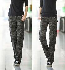 women Military Camouflage trouser cargo pants Ladies Straigh sport joggers pants