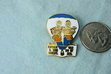 HOT AIR BALLOON LAPEL PIN FATHER & SON CONSTRUCTION # 2 WE DO IT ALL