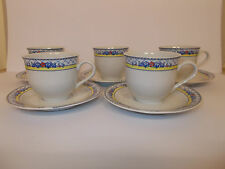 Apulum Fine Porcelain Cups and Saucers with Floral Style band design Lovely