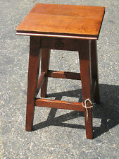 Arts & Crafts Era Signed Roycroft Tabourette Stand Mission Oak Roycrofters