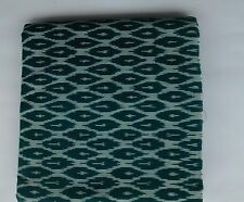 Cotton handwoven Ikat fabric - Mallard green