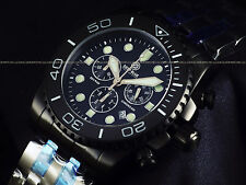 "RARE NEW Deep Blue LE Triple Black Combat Military ""Lumed Bezel"" Sapphire Diver"