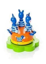 Childrens Kids Baby Zebra Wooden Music Box Boy Girl Christening Gift