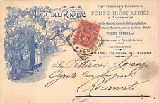 3879) MILANO, LOCATELLI RINALDO, POMPE, FORNI, SALDATURA BICICLETTE VG NEL 1897.