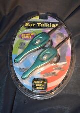 Kids Toy Cyber Gear Green Walkie Ear Talkies Ear Piece Set NIB