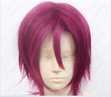 New!Rin Matsuoka Short Dark mulberry Cosplay Wig WX