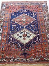 4' x 6'  Antique Persian Afshar Hand Knotted 100%  Wool Oriental Rug-1880