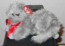 CT* Ty Beanie Baby ~ BEANI the Grey / Gray Cat ~ MINT with CREASED TAG ~ RETIRED