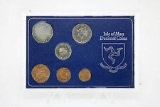 1976 Isle Of Man 5 Crown Sterling Brilliant Uncirculated Decimal Coin Set Cased