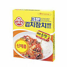 Pack of 5 Korean Ottogi 3 Minutes Spicy Sauce with Kimchi and Tuna