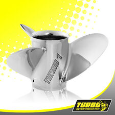 Turbo 1 14 1/4 x 25 Stainless Steel Prop For Mercruiser Alpha 1 Bravo 1