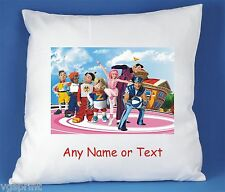LAZY TOWN PERSONALISED LUXURY SATIN POLYESTER CUSHION COVER  BIRTHDAY