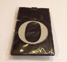 Ganz Luggage Tag Initial O - Black And Light Gray