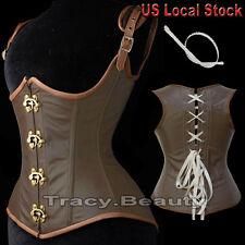 Renaissance Women Waist Training Corset Lace up Bustier top Overbust Boned tb us