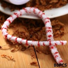 80pcs/Pack Cotton Smoking Tobacco Pipe Cleaning Rod Tool Stick Stems Cleaners