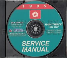 1995 Dodge Ram Truck Shop Manual CD 1500 2500 3500 Service Repair Gas Diesel