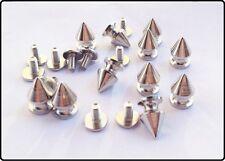 40pz borchie sfuse killer in ottone  8*12mm colore argento * KILLER STUDS silver