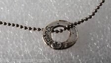 Guess Bead Chain Ladies Necklace Rhinestone Silver Tone Metal Tarnished