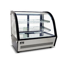 Brand New 120L Commercial Benchtop Cold Cake Display Glass Fridge Showcase 700mm
