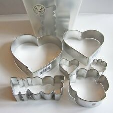 Paw Print Woof Heart Six Piece Cookie Cutter Set - FREE SHIPPING