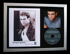 ENRIQUE IGLESIAS+SIGNED+FRAMED+HERO+SEX LOVE=100% GENUINE+EXPRESS GLOBAL SHIP