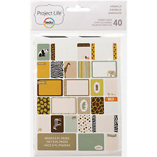Becky Higgins PROJECT LIFE ANIMALS 40-PK Themed Cards scrapbooking 97719