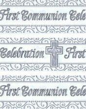 Primera Comunión Banner Pack Blanco Y Plata Con Cruz Decoraciones (ex) 141