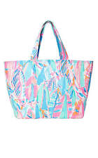 NWT LILLY PULITZER LARGE PALM BEACH TOTE BAG IN MULTI OUT TO SEA