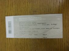 23/08/2010 Ticket: Manchester City v Liverpool  (Colin Bell Stand). Thanks for v