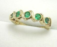 Colombian Emerald Band 0.55 Ct 18K Yellow Gold Size 6.5 Fine Jewelry Muzo Mines