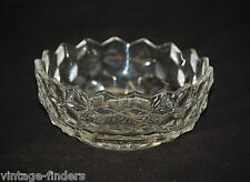 """Old Vintage American Clear by Fostoria Candy Dish w/o Lid Elegant Cubed 2-3/8"""" T"""