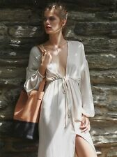 Free People Endless Summer Whatta Babe Dress Size M Beige Long Sleeves Cinched