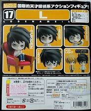 死亡筆記 黏土人 L GSC Good Smile Nendoroid 017 Death Note: L PVC Figure