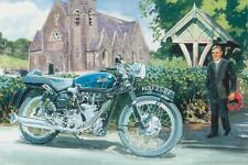 VELOCETTE THRUXTON vicaire 59 Club British motorbike motorcycle carte anniversaire