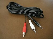 "12FT 3.5mm 1/8"" Stereo Male Plug to 2 RCA Male Audio Cable Cord MP3 PC iPod 12'"