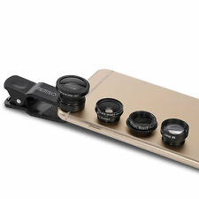5in1 Clip on Fisheye Macro Wide Angle Teleconverter CPL Filter Phone Camera Lens