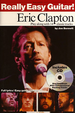ERIC CLAPTON FOR EASY GUITAR Play Along Chord Sheet Music Book & CD -14 Songs