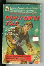 NOW IT CAN BE TOLD, rare British Badger Giant War #1 WW2 pulp vintage pb