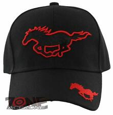 NEW HORSE RACING SPORT MUSTANG SHADOW CAP HAT BLACK