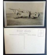 Cartolina Post Card -  Raffigurazione aereo con persone