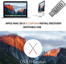 APPLE MAC OS X 10.11 EL CAPITAN on Bootable USB Drive for Install or Recovery