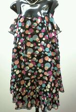 LUCA AND MARC Size 12 Multi Coloured Dot Tier Dance After 5 Dress NWOT RRP $119
