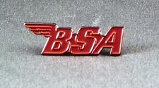 Metal Enamel Pin Badge Brooch BSA Logo Bike Motorbike Red