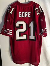 Reebok Authentic  Jersey San Francisco 49ers Frank Gore Burgundy Throwback sz 56
