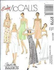 McCalls Sewing Pattern # 2778 Misses Petite Dress in 3 Lengths Size 4-6-8